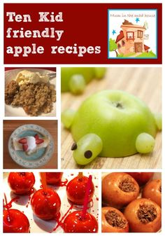 10 kid friendly apple recipes.  Apple season is here and here are ten super delicious and child  approved apple recipes for the whole family to enjoy