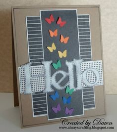 Hello card by northerncrafter - Cards and Paper Crafts at Splitcoaststampers