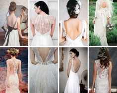 The Boutique Wedding Co. Wedding Dress Trends 2015-Plunging and Embellished Backs #weddingdresses. #weddinggowns, #weddinggowninspiration, #weddingdressinspiration, #weddingdresstrends2015