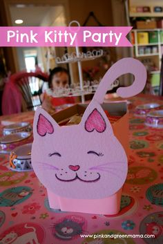 kitty cat party | Pink Kitty Cat Birthday Party