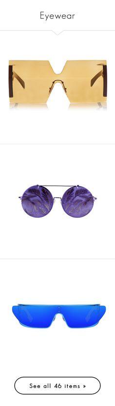 """Eyewear"" by melanijames on Polyvore featuring accessories, eyewear, sunglasses, glasses, brown, oversized eyewear, brown sunglasses, square sunglasses, oversized glasses and over sized sunglasses"