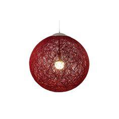 Lámpara Loom roja