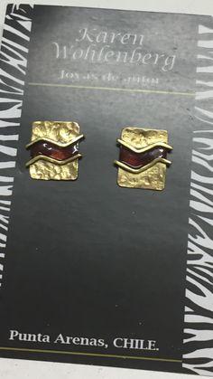 Aros de bronce con esmalte AR0425