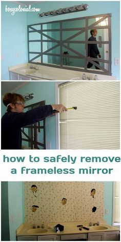 Best DIY Projects: how to safely remove a frameless, builder-grade mirror