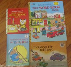 Richard Scarry best Word Book Ever 1991 & 1992 + The Early Bird 1996 lot 3 books http://cgi.ebay.com/ws/eBayISAPI.dll?ViewItem&item=221296928549 10% of sale supports charity