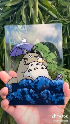 Anime Crafts, Diy Canvas Art, Diy Art, Painting & Drawing, Art Projects, Art Drawings, Anime Art, Glass Paint, Totoro