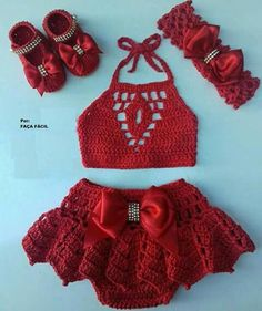The Naomi crop top, crochet bralette in coral Crochet Baby Dress Pattern, Baby Dress Patterns, Baby Girl Crochet, Crochet Baby Clothes, Newborn Crochet, Crochet For Kids, Knit Crochet, Crochet Patterns, Artisanats Denim