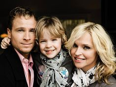 Brian Littrell with his wife, Leighanne & son Baylee