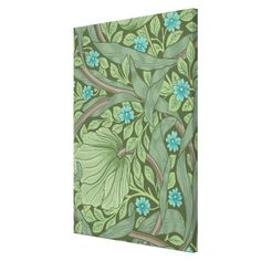 Wallpaper Pattern Sample with Forget-Me-Nots Canvas Print - pattern sample design template diy cyo customize