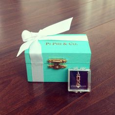 Pi Beta Phi Tiffany's box craft! #piphi #pibetaphi