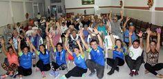 """Adultos mayores del Asilo """"Brunet Celarain"""" participan en jornada aeróbica de fin de año"""