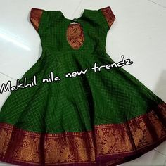 Kids sungudi frocks Can be customized in any colors and models All sizes available from kids to adults Combo packs available To order… Source by tanyapinkky Blouses Long Frocks For Girls, Gowns For Girls, Dresses Kids Girl, Kids Dress Wear, Kids Gown, Baby Frocks Designs, Kids Frocks Design, Indian Dresses For Kids, Baby Frock Pattern