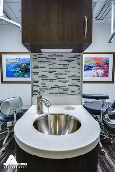 Simple Modern Sink. Dental Office Design by Arminco Inc.