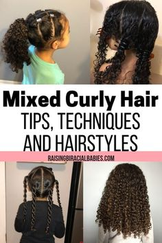 How To Care For Biracial Hair: Tips, Techniques, & Hairstyles. How To Care For Biracial Hair: Tips, Techniques, & Hairstyles. Mixed Curly Hair, Mixed Hair Care, Hair Care Oil, Curly Hair Tips, Curly Hair Care, Long Curly Hair, Natural Hair Care, Curly Hair Styles, Natural Hair Styles