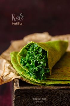 kale tortillas