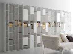 The Italian Designer MDF Of Modern White Modular Wall Storage System