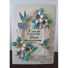 Heartfelt Creations - White Blooms And Hummingbirds Project
