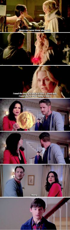 """I need you to break Henry's heart"" - Emma, Violet, Regina, Robin and Henry #OnceUponATime ((Oh, dear!))"