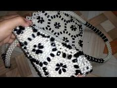 Putir Bag Review # 1 ~ Putir Bag New Design - YouTube Beaded Bags, Beaded Jewelry, Beaded Necklace, Beaded Crafts, Crochet Handbags, Jewelry Making Tutorials, Barbie Dress, Beaded Flowers, Beaded Embroidery