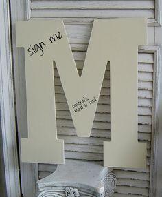 LARGE Alphabet WOOD Letters / Wedding Alternative Guest Book Sign In/ a b c d e f g h i j k l m n o p r s t u v w Typography / Pick Color on Etsy, $22.00