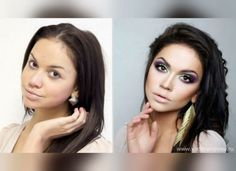 58 With and Without Makeup Pictures of Girls That Will Shock You - Page 2 of 5 - DrollFeed Amazing Makeup Transformation, Amazing Transformations, Transformation Tuesday, Beauty Make-up, Beauty Hacks, Hair Beauty, Natural Beauty, Contour Makeup, Beauty Makeup