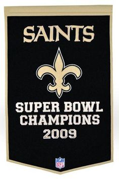 "THIS ITEM SHIPS IN 3 BUSINESS DAYS - Made and Designed by Winning Streak. - From the Dynasty Banner Collection measuring 24"" x 36"". - Hand-Crafted Embroidery/Applique Design featuring the New Orleans Saints logo. - Top Quality Genuine Wool Hand-Crafted Wall Banner. The perfect addition to any New Orleans Saints Man Cave. - 100% Authentic. - Officially Licensed NFL Product"