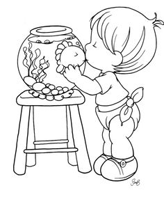 Grand Sewing Embroidery Designs At Home Ideas. Beauteous Finished Sewing Embroidery Designs At Home Ideas. Baby Coloring Pages, Free Coloring, Coloring Pages For Kids, Coloring Books, Hand Embroidery Designs, Embroidery Patterns, Precious Moments Coloring Pages, Boy Drawing, Digi Stamps
