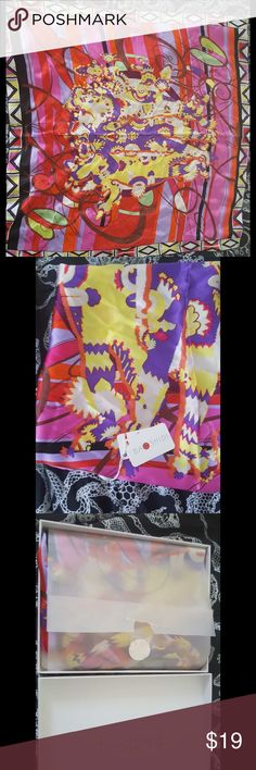 Baoshidi silk scarf This beautiful silk scarf purchased in Ningbo China can be worn in various ways. It's top quality 100% Chinese silk with tags verifying the purchase in the PRC. Baoshidi Accessories Scarves & Wraps