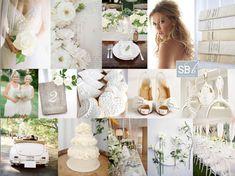 Inspiration Board: Blanc de Blanc | SouthBound Bride