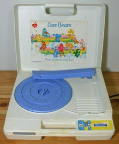 Care Bears Record Player- I had sesame street with big bird on it... I kinda miss records.