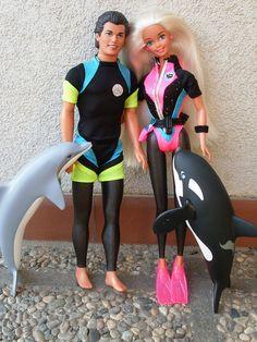 1996 Ocean Friends Ken and Barbie