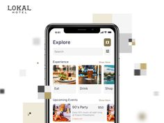 Lokal Hotel App - Invisible Service Hotel designed by Chuong K. Connect with them on Dribbble; Hotel App, Iphone App Design, Hotel Services, Ui Ux