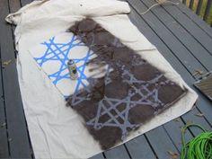 lattice rug painters tape and spray paint. Black Bedroom Furniture Sets. Home Design Ideas