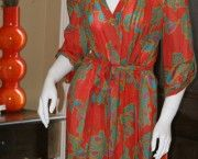 Hale Bob Cabana Coral Button Down Dress