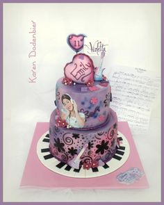 Violetta cake for my daughter! - Cake by Karen Dodenbier