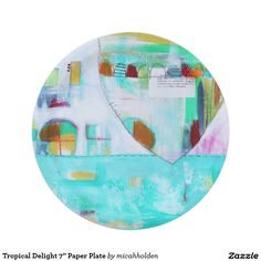 "Tropical Delight 7"" Paper Plate 7 Inch Paper Plate"