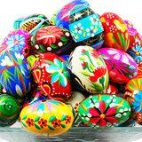 Pisanki (Pysanki) Hand-painted Polish Wooden Eggs - Bakers Dozen   Polish mugs, plates, bakeware and more Polish pottery