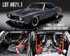 Under the carbon-fiber #hood of this super #Custom Pro Touring G-machine is an #upgraded #ChevroletPerformance #BowTie W2W all-aluminum 400 fuel-injected small-block #engine producing 580hp. #Wrapped in Dark #Silver #Metallic, this captivating #Camaro will #cross the #Northeast #block on #June 25th at our #inaugural #auction at #MoheganSun in #Connecticut.   Lot #671.1 – 1969 Chevrolet Camaro Custom Coupe: http://bit.ly/NELot6711   #BarrettJackson