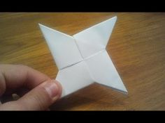 How To Make a Paper Ninja Star (Shuriken) - Origami - YouTube
