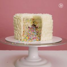 The creation of this confetti cake will mesmerize you
