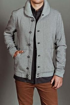 Jamr Shawl Collar Jacket -- I wish I was a guy sometimes. Just for their amazing sweaters and costs
