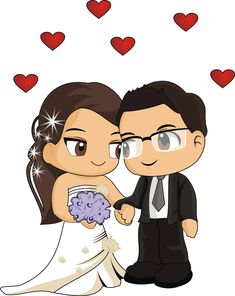 Custom Wedding Cake Toppers, Custom Wedding Gifts, Anniversary Gifts For Couples, Wedding Gifts For Couples, Wedding Images, Wedding Cards, Black And White Drawing, Painting For Kids, Cartoon Drawings