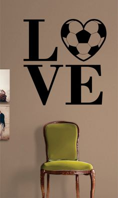 Soccer The latest in home decorating. Beautiful wall vinyl decals, that are simple to apply, are a great accent piece for any room, come in an array of colors, and are a cheap alternative to a custom