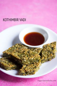 kothmir vadi recipe - a delicious savory crisp snack made with gram flour (besan), coriander leaves and spices.