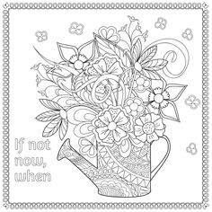 Large Coloring Books for Adults New 348 Best Images About Floral Coloring Pages for Adults On Free Adult Coloring, Adult Coloring Book Pages, Printable Adult Coloring Pages, Flower Coloring Pages, Colouring Pages, Coloring Books, Abstract Coloring Pages, Mandala Coloring, Bride