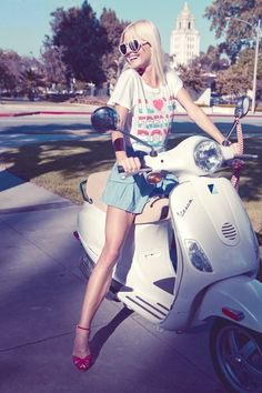 spring ride on vespa would be perfect.