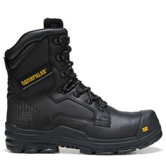Caterpillar Men's Scaffold Waterproof Composite Toe Work Boots (Black Leather) Combat Suit, Combat Boots, Safety Toe Boots, Men's Shoes, Shoe Boots, Composite Toe Work Boots, Steel Toe Boots, Tactical Clothing, Work Gloves