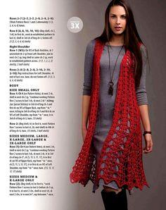 Fabulous Crochet a Little Black Crochet Dress Ideas. Georgeous Crochet a Little Black Crochet Dress Ideas. Crochet Vest Pattern, Crochet Jacket, Crochet Cardigan, Crochet Scarves, Crochet Shawl, Crochet Clothes, Knit Crochet, Crochet Vests, Crochet Sweaters