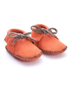 Coral Suede Moccasin Booties (Mili Designs NYC)