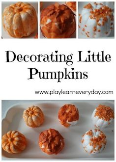 We decorated these cute little polystyrene pumpkins from Baker Ross in three different ways for Halloween. Easy Fall Crafts, Easy Halloween Crafts, Fall Crafts For Kids, Projects For Kids, Kids Crafts, Fun Halloween Games, Halloween Party Decor, Halloween Ideas, Halloween Activities For Kids